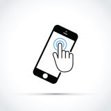 Mobile phone touch screen Royalty Free Stock Photo