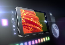 Mobile phone touch screen features Stock Images