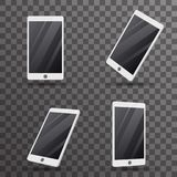 Mobile phone touch screen smartphone 3d  template vector illustration Stock Images