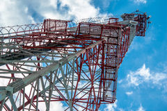 Mobile phone tower. A mobile phone tower that use to transmit and receive the phone signal Royalty Free Stock Photo