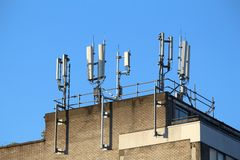 Mobile phone transmitters Stock Photography