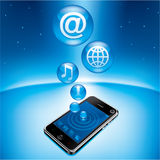 Mobile Phone in Universe Stock Photography