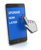 Mobile phone upgrade concept Royalty Free Stock Image
