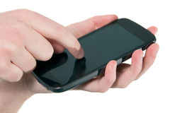 Mobile phone in use Royalty Free Stock Photos