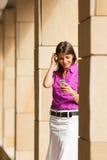 mobile phone using woman Στοκ εικόνες με δικαίωμα ελεύθερης χρήσης