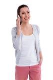 mobile phone using woman young Στοκ Φωτογραφίες