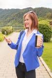 mobile phone using woman young Στοκ φωτογραφίες με δικαίωμα ελεύθερης χρήσης