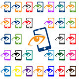 Mobile Phone Vector Icon- look Stock Photos