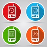 Mobile phone vector icons Stock Images