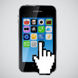 Mobile phone vector illustration Royalty Free Stock Photos