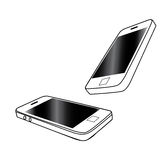 Mobile Phone Vector Isolated On White Royalty Free Stock Photo