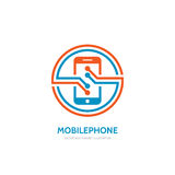 Mobile phone vector logo template concept illustration. vector illustration