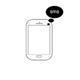 Mobile phone vector with sms - message icon Stock Image