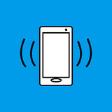 Mobile phone vibration flat icon Royalty Free Stock Image