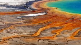 Magical Eye, Yellowstone, Natural Colors Background. A breathtaking view of the magical eye - Grand Prismatic Pool. Natural colors background. Yellowstone