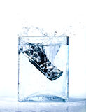 Mobile phone in water Stock Photo
