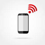 Mobile phone with Wi fi Royalty Free Stock Photography