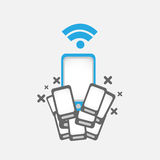 Mobile phone wifi concept Royalty Free Stock Image