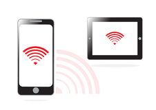 Mobile phone and WIFI signal Royalty Free Stock Photos