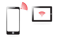 Mobile phone and WIFI signal for communication concept in  Royalty Free Stock Photos