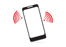 Mobile phone and wifi signal for communication concept in  Royalty Free Stock Photo