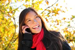 mobile phone woman Stock Images