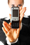 Mobile phone in woman hand. Mobile communication. Stock Photo