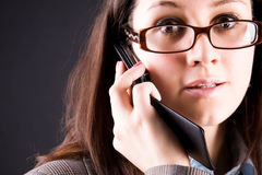 mobile phone woman young Στοκ εικόνα με δικαίωμα ελεύθερης χρήσης