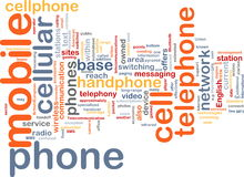 Mobile phone word cloud Royalty Free Stock Photos