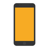 Mobile phone yellow screen technology Stock Images