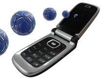 Mobile Phone_ball Royalty Free Stock Image