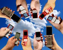 Mobile Phones Stock Photo