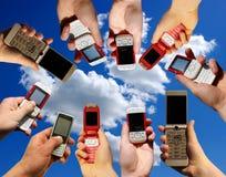 Mobile phones stock photo