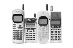 Mobile Phones. On White Background Stock Photos