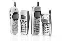 Mobile Phones. On White Background Royalty Free Stock Photo