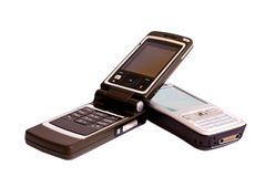 Mobile phones. With clipping path , studio shot Royalty Free Stock Photo