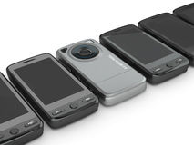 Mobile phones. 3d Royalty Free Stock Images