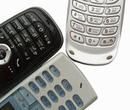 Mobile phones. Close up of mobile phones Royalty Free Stock Photography