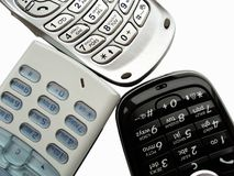 Mobile phones. Close up of mobile phones royalty free stock photos
