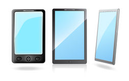Mobile phones with a blank screens Royalty Free Stock Photos