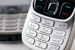 Mobile phones close up keypad Royalty Free Stock Photography