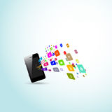 Mobile phones communication concept Royalty Free Stock Images