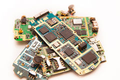 Mobile phones electronic board stock photography