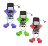 Mobile Phones with Holders Stock Images