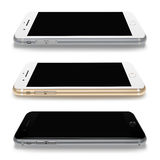 Mobile phones realistic smartphones. Royalty Free Stock Photos