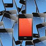 Mobile phones seamless background Royalty Free Stock Photos