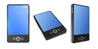 Mobile Phones with Touch Screen. Mobile Phones isolated on the white background with clipping paths royalty free illustration