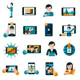 Mobile photo icons set Royalty Free Stock Photo