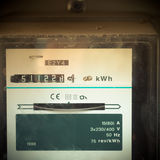 Mobile photography toned old analog power meter Royalty Free Stock Photos