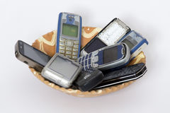Mobile plate Stock Photos
